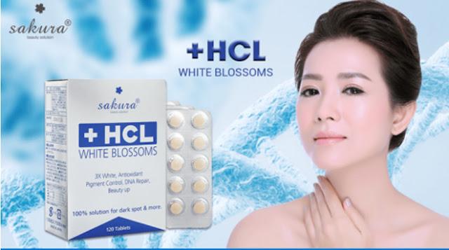 Viên uống trị nám là trắng da Sakura HCL White Blossom
