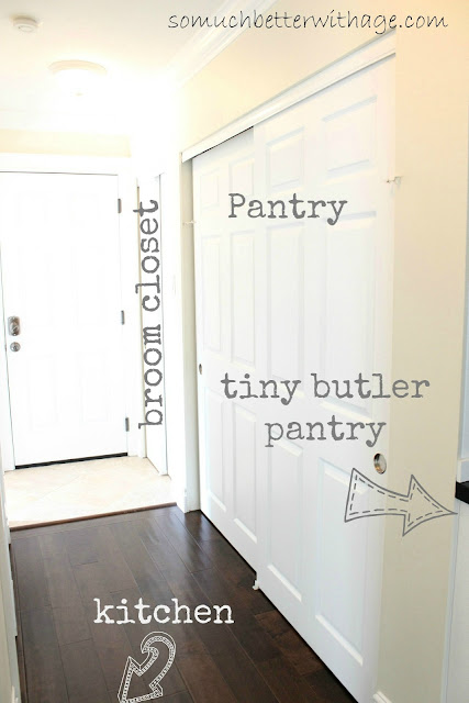 Closet Turned Butler Pantry www.somuchbetterwithage.com