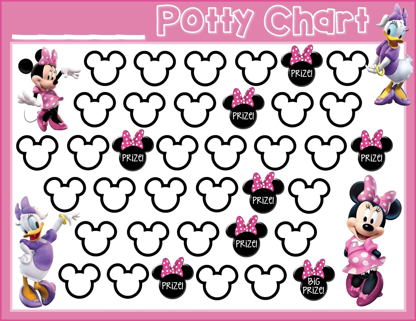 Fan image within free printable potty chart