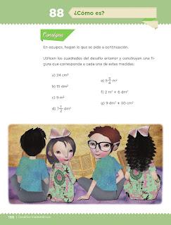 Apoyo Primaria Desafíos Matemáticos 4to. Grado Bloque IV Lección 88 ¿Cómo es?
