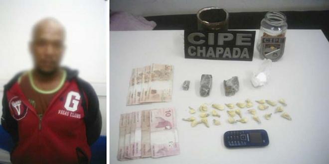 Traficante de drogas é preso em flagrante na cidade de Bonito