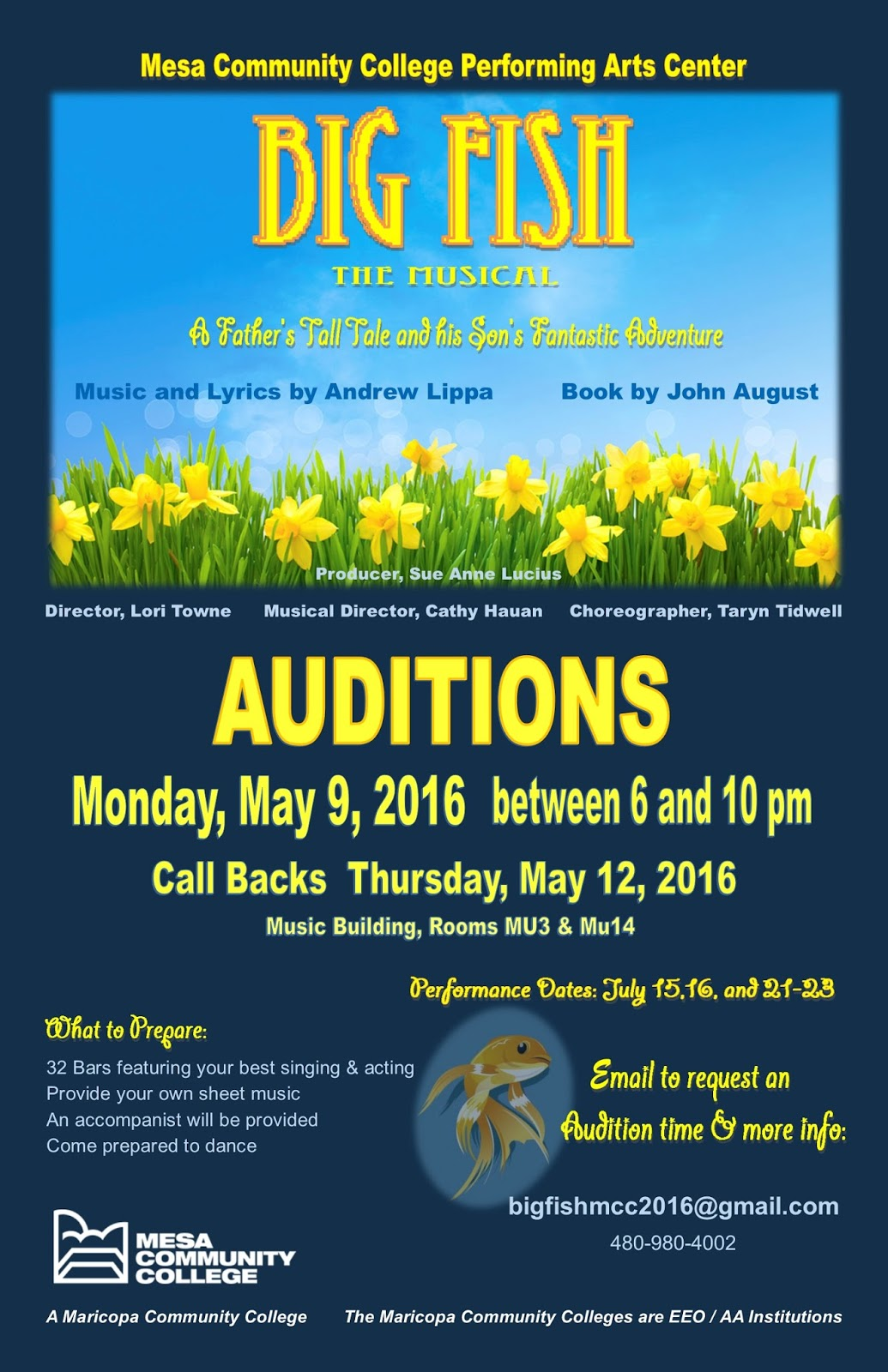 PHX Stages: audition notice - BIG FISH - Mesa Community