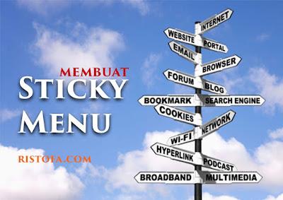 Cara mudah membuat sticky menu di blog | ristofa.com