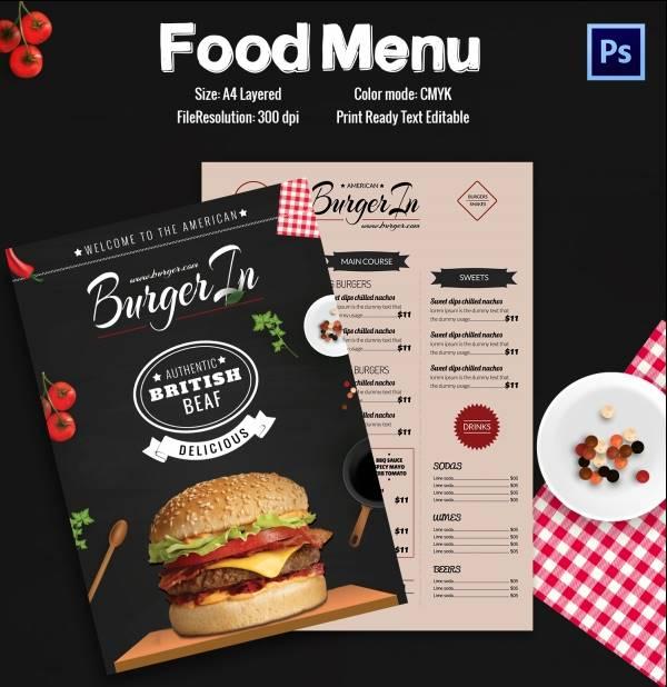Contoh Desain Brosur Makanan Menarik Dan Unik Grafis Media