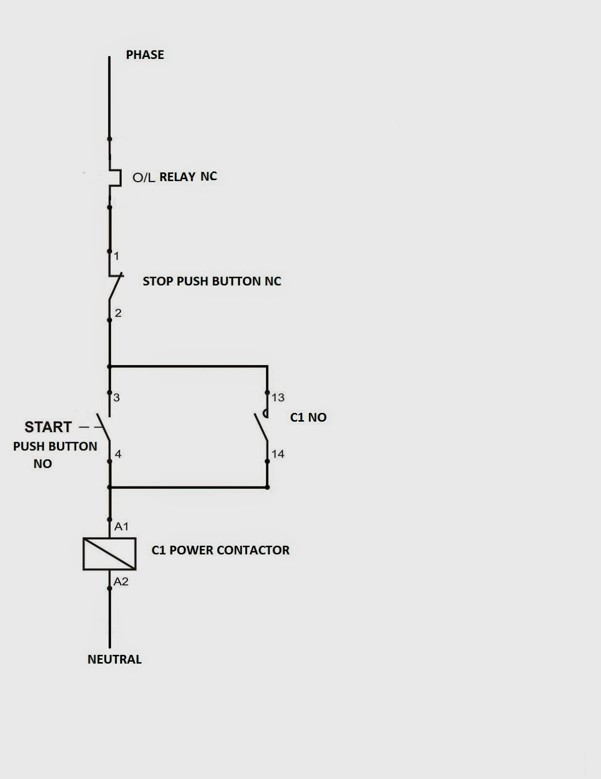 hight resolution of above diagrams shows where overload is connected in motor circuit you may see that in control circuit overload relay comes first in line but in power
