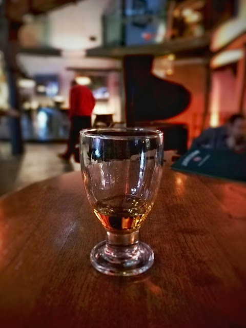 Dram of Irish whiskey at Jameson Distillery in Dublin