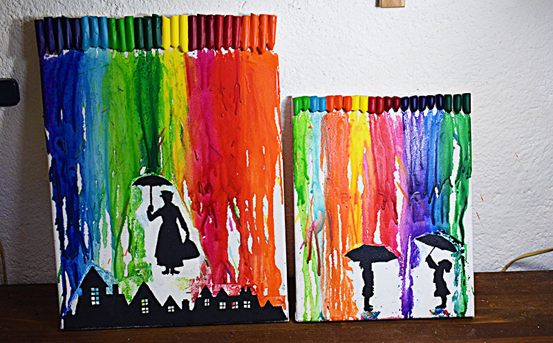 Planeta virtual crayon art c mo hacer cuadros con ceras - Manualidades faciles cuadros ...