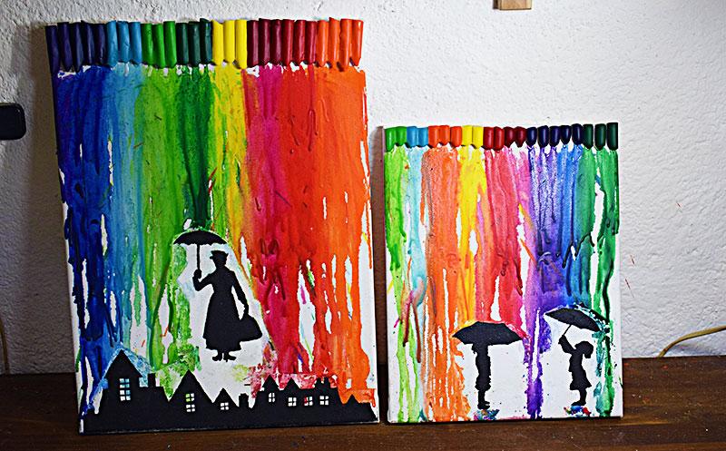 Planeta virtual crayon art c mo hacer cuadros con ceras for Marcos para lienzos