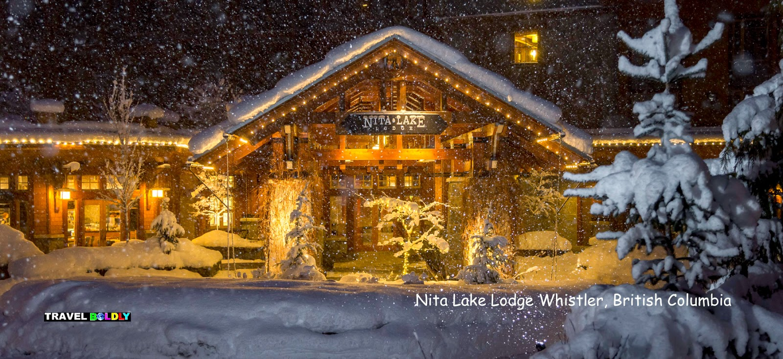 Nita Lake Lodge in in winter - Whistler, British Columbia Travel Boldly