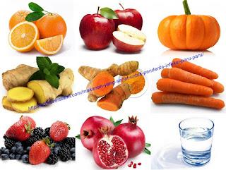 makanan sehat penderita paru paru