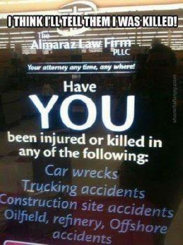 Personal Injury Advert
