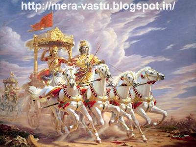घर मे रामायण और महाभारत के युद्ध संबन्धित तस्वीरें नहीं होनी चाहिए। इससे परिवार के लोगों मे प्रतिद्वंध्ता की भावना विकसित होती है