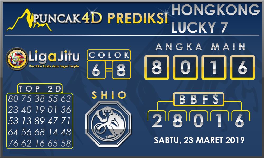 PREDIKSI TOGEL HONGKONG LUCKY7 PUNCAK4D 23 MARET 2019