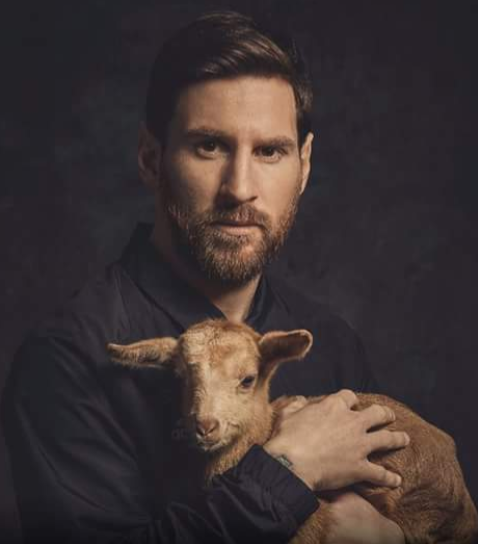 Illuminaty alarm as Messi pictured cuddling a baby goat