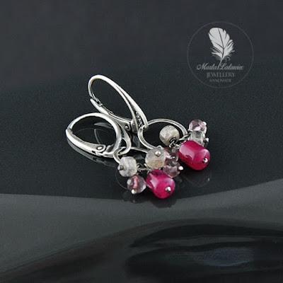 srebrne kolczyki z naturalnymi kamieniami gdzie kupować biżuterię online