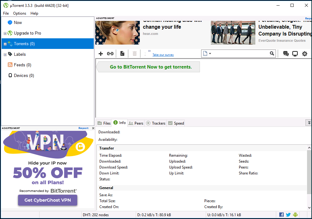 uTorrent 3.5.5 Build 45081