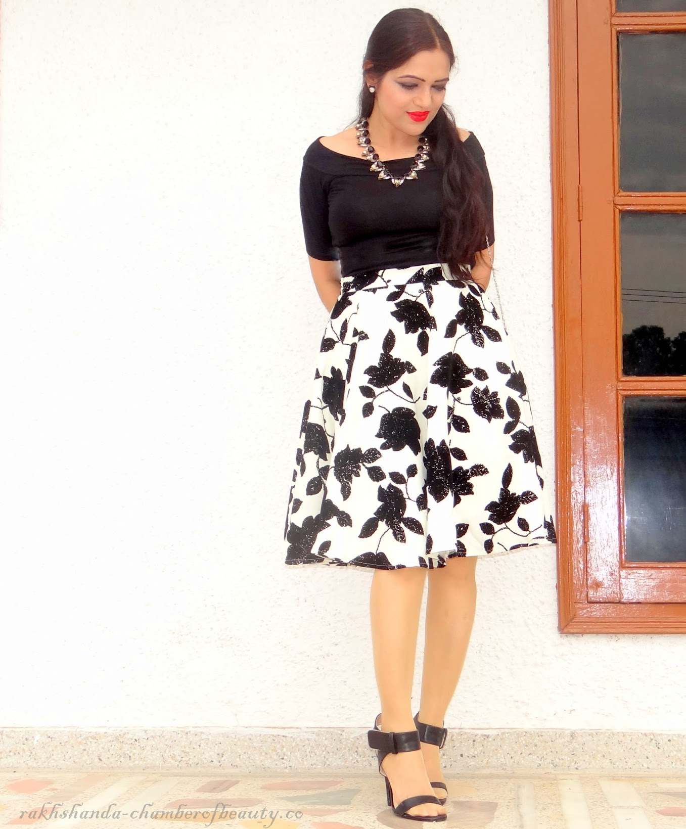 6bd0790930 Summer Fashion- Monochromed it (OOTD)| How to style a black and white midi  skirt - Chamber of beauty