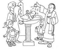 Coloring picture of baptism ~ Child Coloring