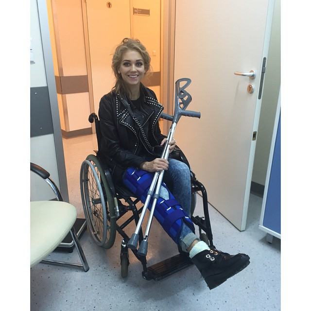 Kristina Asmus after surgery