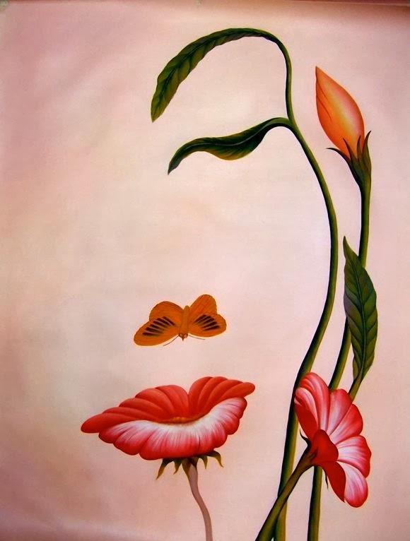 Gambar Lukisan Mudah : gambar, lukisan, mudah, Contoh, Gambar, Lukisan, Bunga, Kanvas, Mudah, Ditiru