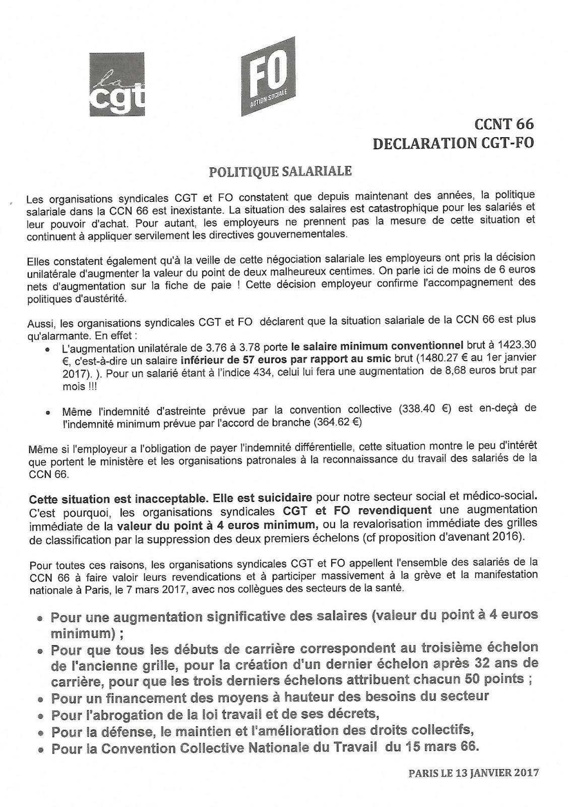 Le Blog De La Cgt De L A N R A S Declaration Cgt Et Fo Cnpn 66 13