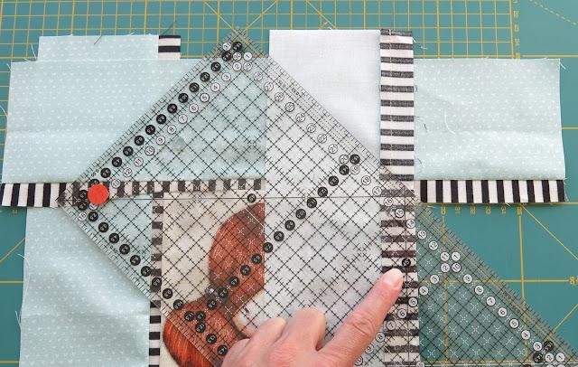 Luna Lovequilts - Mitered borders tutorial - Work in progress