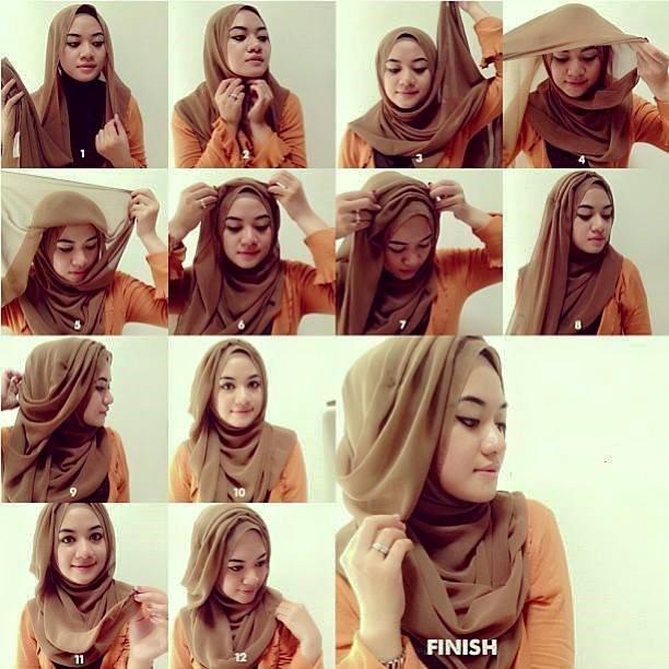 Model dan Cara Menggunakan Hijab Pashmina Simpel Praktis 6