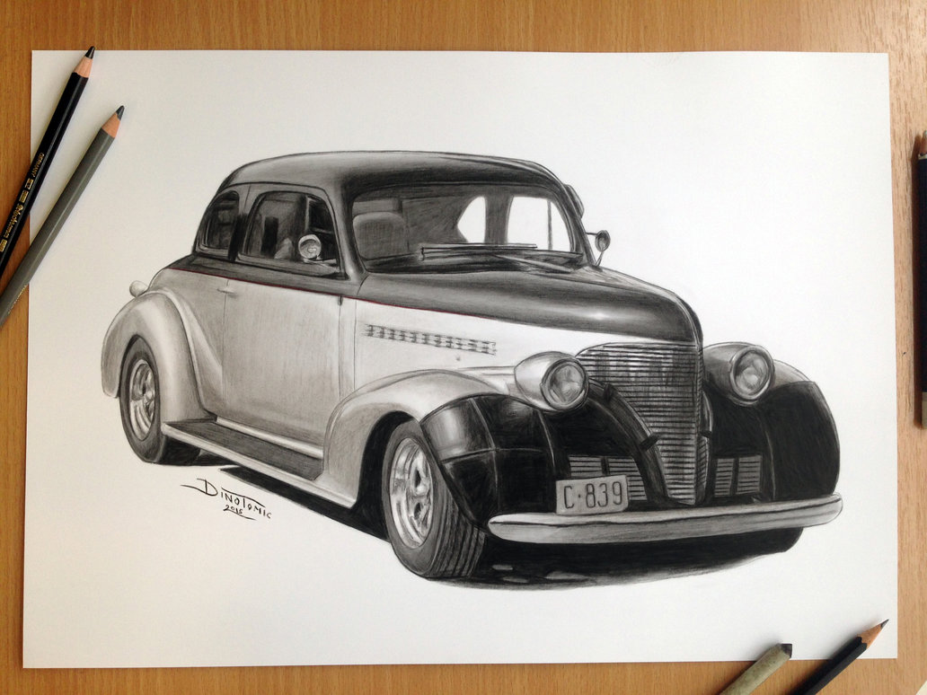 24-Car-Pencil-Drawing-Dino-Tomic-AtomiccircuS-Drawing-Painting-Tips-and-Digital-Art-www-designstack-co