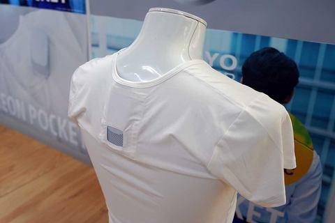 camiseta con aire acondicionado