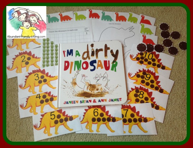 Free Printables to Accompany I'm a Dirty Dinosaur