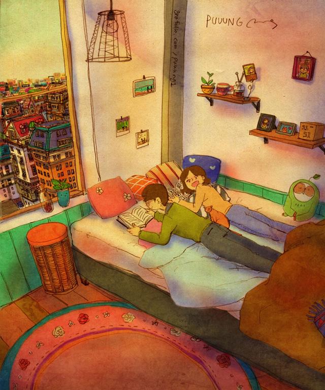 Aşk yatakta kitap okumaktır