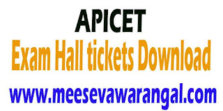 Andhra Pradesh APICET 2016 Hall Tickets Download