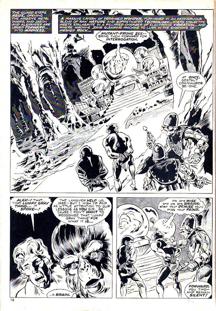 Planet of the Apes v1 #3 curtis magazine page art by Mike Ploog