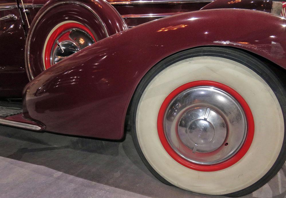 1935 Cadillac V-12 front wheel.