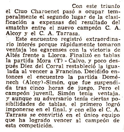 La Vanguardia, IX Campeonato de España de Ajedrez por Equipos