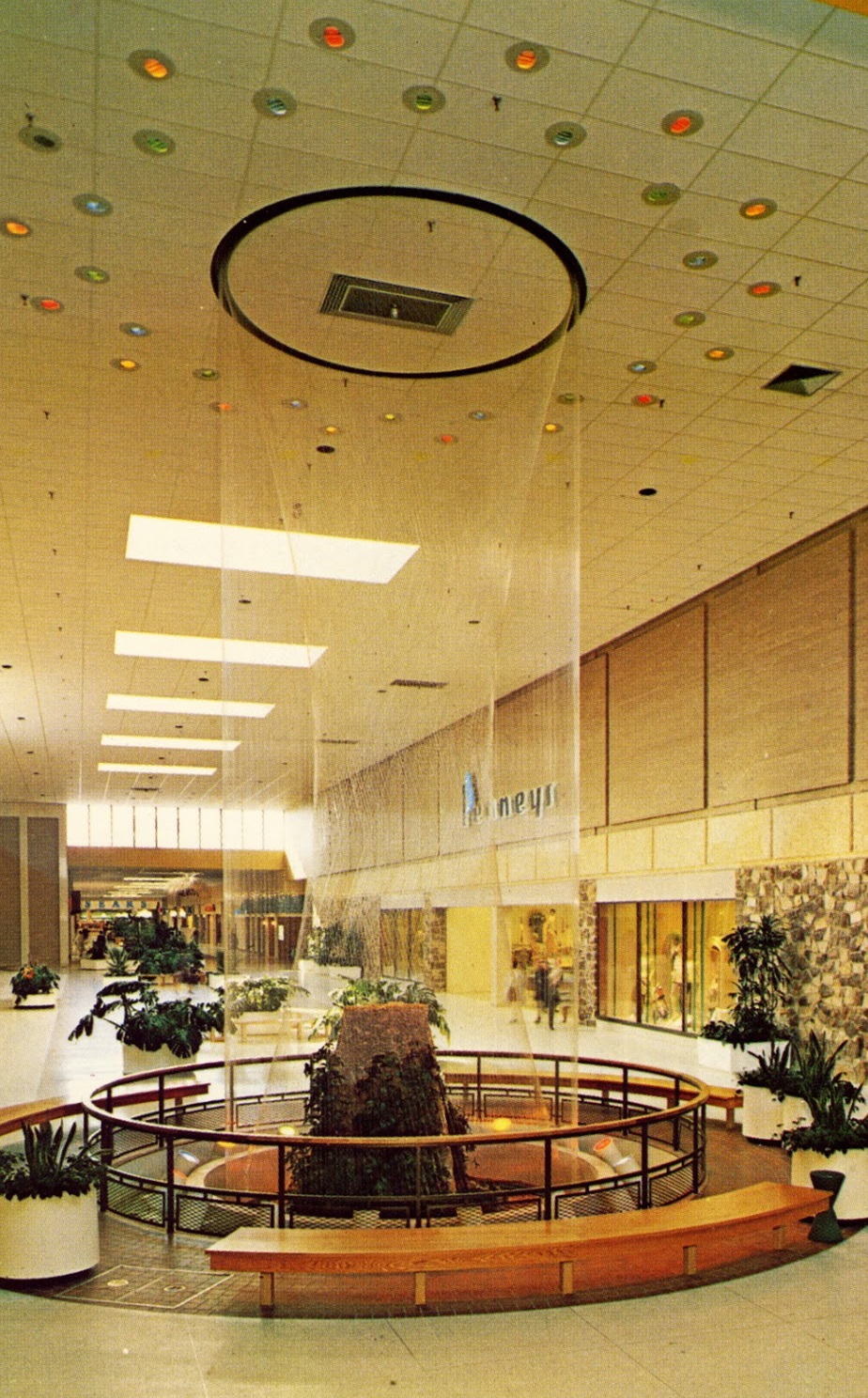 Water Less Wonderfall Features Were Common In Mid To Late 1960s Malls. They  Could Be Found At Southern Californiau0027s TOPANGA PLAZA, South Floridau0027s PALM  ...