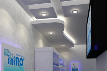 Jasa gambar design depo air minum kemasan isi ulang nuansa biru modern minimalis