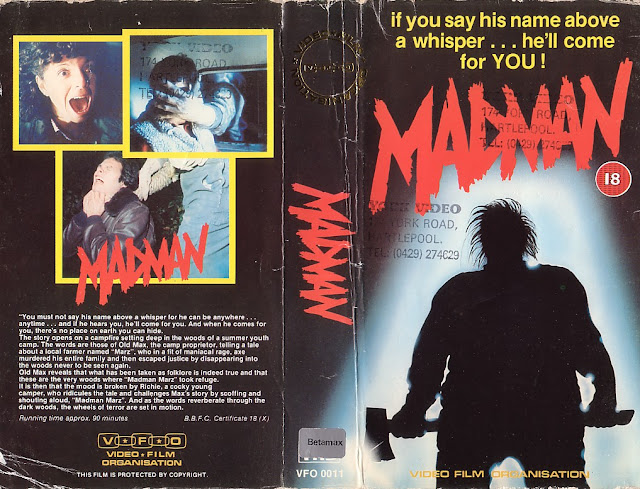 Image result for madman 1982 vhs cover