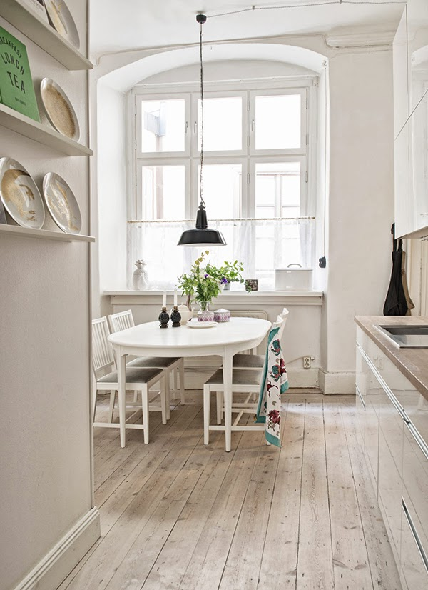 Full view of swedish kitchen