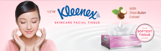 Introducing Kleenex Facial Tissue Skincare