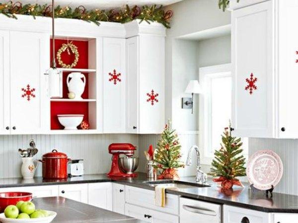 ideas para adornar su cocina en navidad