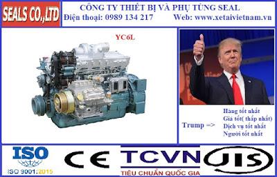 Phụ tùng động cơ yuchai chinh hãng tại hà nội- model YC6L