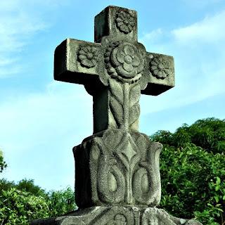 Cruz em Jazigo do Cemitério Alemão, Lindolfo Collor