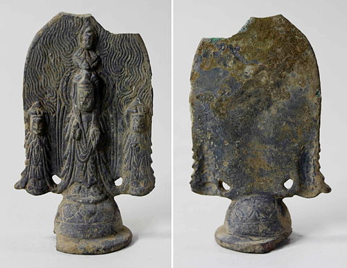 Three Kingdoms Period Gilt-Bronze Buddha Triad Found In South Korea