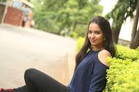 Poojita Super Cute Smile in Blue Top black Trousers at Darsakudu press meet ~ Celebrities Galleries 073.JPG