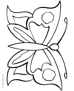 Easy butterfly Coloring Pages Animals For Kids