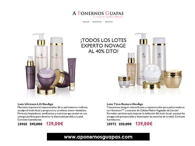 Lote experto Novage Ultimate Lift Time Restore Oriflame