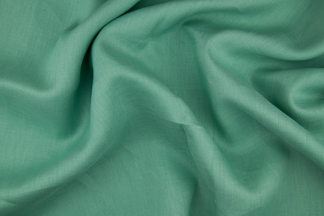 Dark Sage Handkerchief Linen Fabric