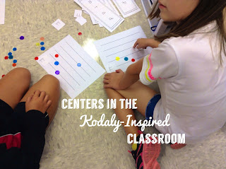Centers in the Kodaly-inspired classroom: Easy ideas to implement centers into your music lessons!