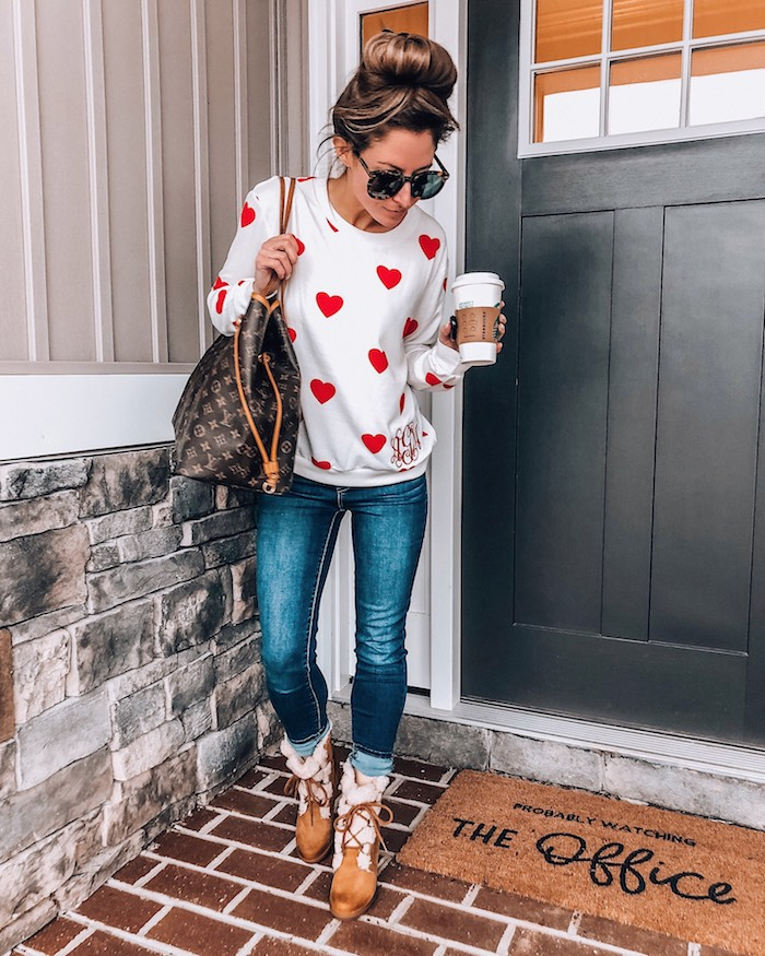 shop i love jewelry monogrammed heart sweater